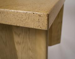 Paul Frankl 1950s Paul Frankl Bleached Oak Cork Console Table for Johnson Furniture - 1119332
