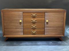 Paul Frankl American Modern Dark Walnut and Brass Credenza Sideboard Paul Frankl - 1357119