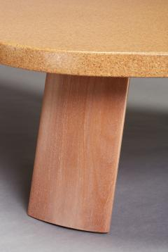 Paul Frankl Bigfoot Cork and Mahogany Coffee Table Original Size - 1808634