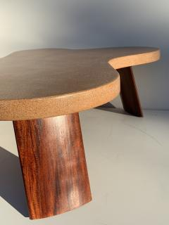 Paul Frankl Cloud Cork and Mahogany Coffee Table - 1161107