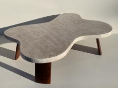 Paul Frankl Cloud Cork and Walnut Coffee Table - 1161181