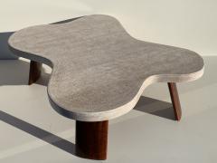 Paul Frankl Cloud Cork and Walnut Coffee Table - 1161197