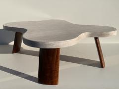 Paul Frankl Cloud Cork and Walnut Coffee Table - 1161234