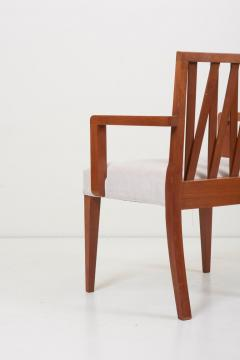 Paul Frankl Newly Restored Set of 8 Lattice Back Dining Chairs Attributed to Paul T Frankl - 1128491