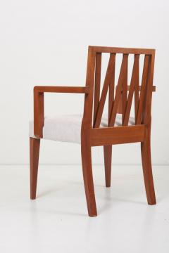 Paul Frankl Newly Restored Set of 8 Lattice Back Dining Chairs Attributed to Paul T Frankl - 1128493
