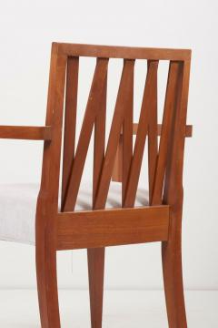 Paul Frankl Newly Restored Set of 8 Lattice Back Dining Chairs Attributed to Paul T Frankl - 1128494