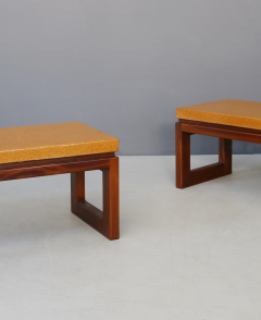 Paul Frankl Pair of Paul Frankl Cork Coffee Table 1950s - 1205770