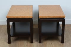 Paul Frankl Pair of Two Tier Cork Top End Tables by Paul Frankl - 934873