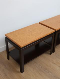 Paul Frankl Pair of Two Tier Cork Top End Tables by Paul Frankl - 934877
