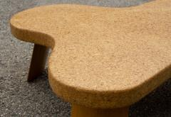 Paul Frankl Paul Frankl Cloud Coffee Tables in Natural Cork and Bleached Mahogany Pair 1951 - 2077367