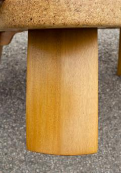 Paul Frankl Paul Frankl Cloud Coffee Tables in Natural Cork and Bleached Mahogany Pair 1951 - 2077369