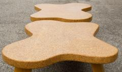 Paul Frankl Paul Frankl Cloud Coffee Tables in Natural Cork and Bleached Mahogany Pair 1951 - 2077371