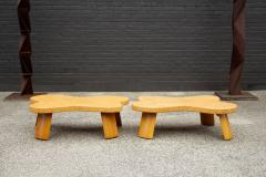 Paul Frankl Paul Frankl Cloud Coffee Tables in Natural Cork and Bleached Mahogany Pair 1951 - 2077375