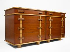 Paul Frankl Paul Frankl Dresser Mirror Station Wagon Series in Mahogany Maple Leather - 1664181