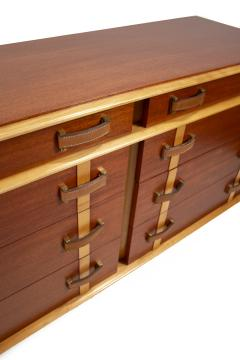 Paul Frankl Paul Frankl Dresser Mirror Station Wagon Series in Mahogany Maple Leather - 1664186