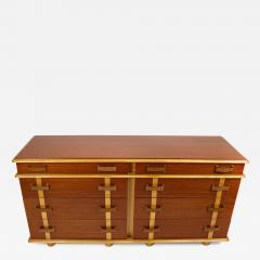 Paul Frankl Paul Frankl Dresser Mirror Station Wagon Series in Mahogany Maple Leather - 1665937