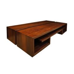 Paul Frankl Paul Frankl Pair Of Matched Low Coffee Tables In Brazilian Rosewood 1940s - 1055092