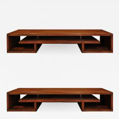 Paul Frankl Paul Frankl Pair Of Matched Low Coffee Tables In Brazilian Rosewood 1940s - 1056029