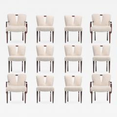 Paul Frankl Set of 18 Paul Frankl Corset Back Dining Chairs in Ivory Boucl circa 1950 - 1883236