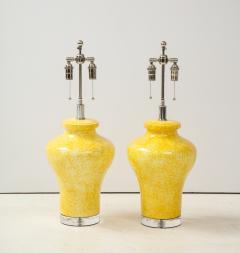 Paul Hanson Pair of Paul Hanson Canary Yellow Lamps - 1924101