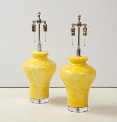 Paul Hanson Pair of Paul Hanson Canary Yellow Lamps - 1924102