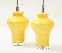 Paul Hanson Pair of Paul Hanson Canary Yellow Lamps - 1924106