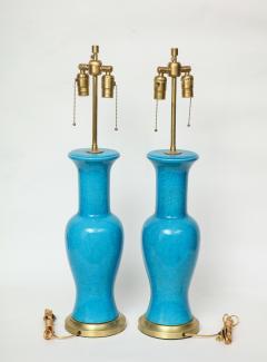 Paul Hanson Paul Hanson Cerulean Blue Porcelain Lamps - 781314