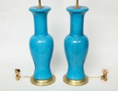 Paul Hanson Paul Hanson Cerulean Blue Porcelain Lamps - 781315