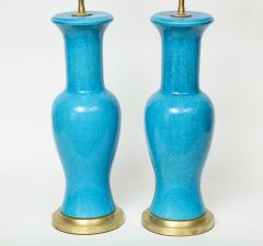Paul Hanson Paul Hanson Cerulean Blue Porcelain Lamps - 781316