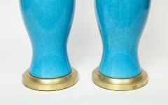Paul Hanson Paul Hanson Cerulean Blue Porcelain Lamps - 781317
