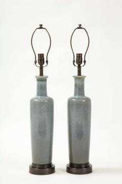 Paul Hanson Paul Hanson Speckled Blue Ceramic Lamps - 2132251