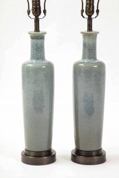Paul Hanson Paul Hanson Speckled Blue Ceramic Lamps - 2132253