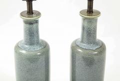 Paul Hanson Paul Hanson Speckled Blue Ceramic Lamps - 2132254