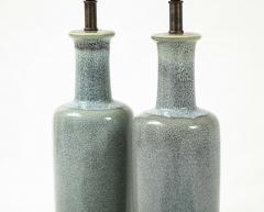 Paul Hanson Paul Hanson Speckled Blue Ceramic Lamps - 2132256