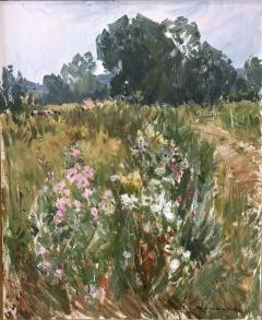 Paul Jean Anderbouhr Landscape With Pink and White Flowers - 1300332