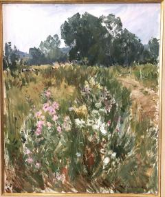 Paul Jean Anderbouhr Landscape With Pink and White Flowers - 1300333