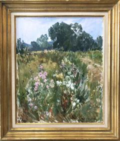 Paul Jean Anderbouhr Landscape With Pink and White Flowers - 1300334