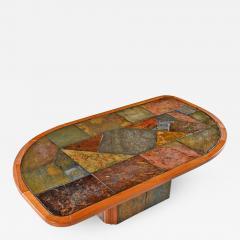 Paul Kingma Style Brutalist Pedestal Coffee Table By Slate Craft Ltd S  Africa   667911
