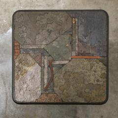 Paul Kingma Trio of Kingma Kneip Bronze and Slate Tables Netherlands 1960s - 1015287