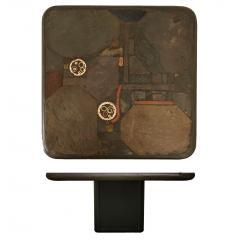 Paul Kingma Trio of Kingma Kneip Bronze and Slate Tables Netherlands 1960s - 1015288