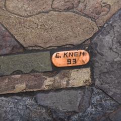 Paul Kingma Trio of Kingma Kneip Bronze and Slate Tables Netherlands 1960s - 1015312