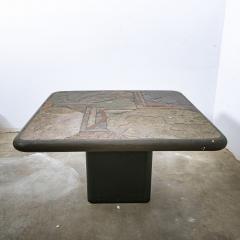 Paul Kingma Trio of Kingma Kneip Bronze and Slate Tables Netherlands 1960s - 1015320