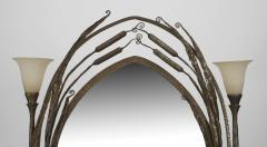 Paul Kiss French Art Deco Wrought Iron Cheval Mirror - 470931