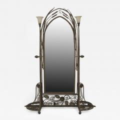 Paul Kiss French Art Deco Wrought Iron Cheval Mirror - 471943