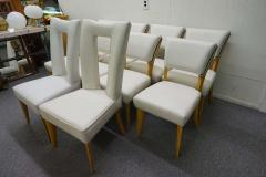 Paul L szl Amazing Set Ten Paul Laszlo Leather Dining Chairs Mid Century Modern - 1796244