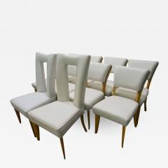 Paul L szl Amazing Set Ten Paul Laszlo Leather Dining Chairs Mid Century Modern - 1797938
