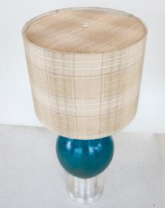 Paul L szl Custom Blue Glazed Table Lamp by Paul Laszlo - 181857