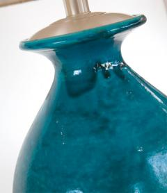 Paul L szl Custom Blue Glazed Table Lamp by Paul Laszlo - 181859