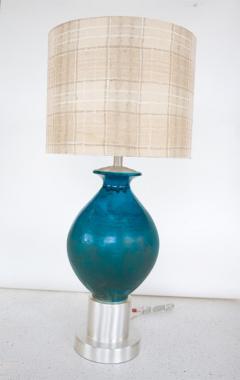Paul L szl Custom Blue Glazed Table Lamp by Paul Laszlo - 181863