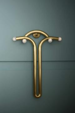 Paul Matter Goddess Brass Sconce by Paul Matter - 1160249